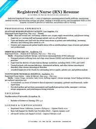 Good Nurse Resume Sample Best Of For Nurses Template Nursing Example Without Experience