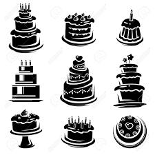 Wedding Cake Vector Black And White