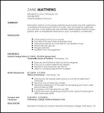 Free Entry Level Fashion Assistant Buyer Resume Template