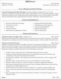 Marriage And Family Therapist Resume Sample Rustic