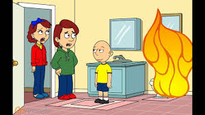 caillou blows up the toilet grounded youtube