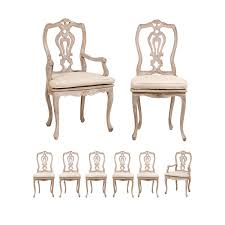 100 Dining Chairs Painted Wood Set Of Eight Lovely Italian With Custom