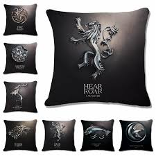 Decorative Couch Pillow Covers by 18 Square Game Of Thrones Family Logo Cotton Linen Cushion Cover
