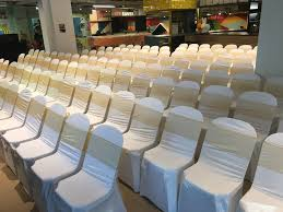 WCR002 - Lycra/Spandex White Seat Covers (Rental) *Chair NOT INCLUDED