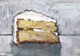 Birthday Cake Painting by Kevin Inman Art