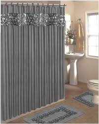 Brylane Home Bathroom Curtains by Popular Bath Sinatra Bling Jacquard Silver Grey Fabric Shower