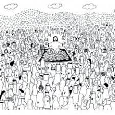 Jesus Feeds The Five Thousand Coloring Pages
