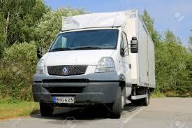 100 Light Duty Truck SALO FINLAND AUGUST 3 2014 White Renault Mascott