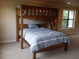 Double Twin Loft Bed Plans by Single Over Double Bunk Bed Plans Techethe Com