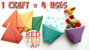 Origami Paper Cup Ball Game