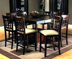 Pub Style Dining Room Table Espresso And Chairs Images