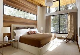 Bedroom Inspired By Nature With Wood Elements