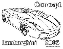 Pin Drawn Lamborghini Colouring Page 7