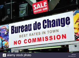 meilleur taux bureau de change bureau de change sign photos bureau de change sign images alamy