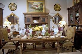 Classic Country French Dining Room With