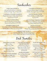 menu riverdeck