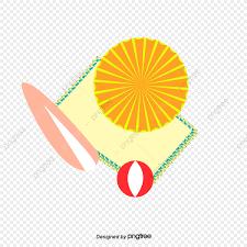 Elementos De Viajes Verano Sombrillas Playa Dibujos Animados