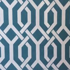 Lattice Modern Geometric Adler Style Famous Maker Soft Thick Acrylic Outdoor Fabric Barkcloth Texture Aqua Turquoise S578