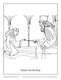 Esther And The King Coloring Page Sunday School ActivitiesSunday