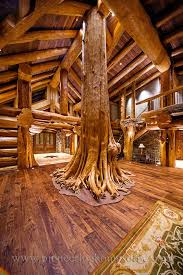 Simple Log Home Great Rooms Ideas Photo by Amazing Ceadar As Family Tree In Great Room Log Post And