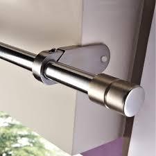 support sans perçage tringle à rideau ib 25 mm chromé mat ib