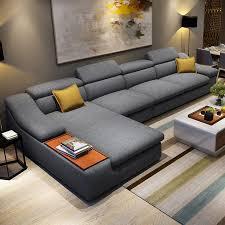 wohnzimmermöbel moderner l förmiger eck ecksofa set design
