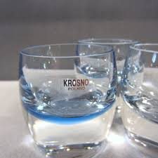 100 Poland Glass Krosno Crystal Ice Blue Heavy Votive Candle Holders