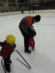 Learning to skate at Northern Lights Arena in Alpena Michigan