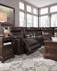 Marge Carson Sofa Construction by Contemporary Leather Match Reclining Sectional With Console By