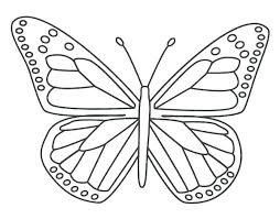 Simple Butterfly Coloring Pages Pictures Monarch