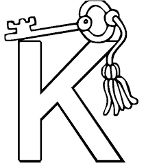 Key Coloring Page 14 K For Pages