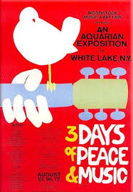 Woodstock Music Art Fair August 15 18 1969 The Iconic Poster