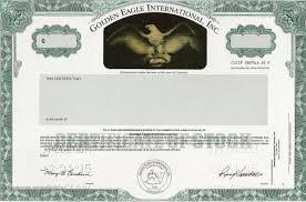 GoldenEagleInternational Nice Company Stock Certificate Template