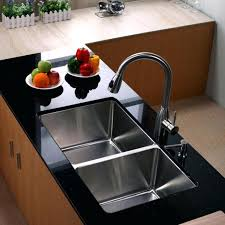 kitchen sink material double stainless steel faucet black wooden