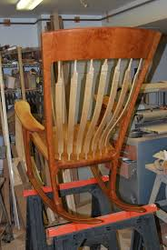 Maloof Rocking Chair Joints by Building The Chair The Wood Bodger