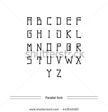 Vector Geometric Font Simple Alphabet Modern Stock