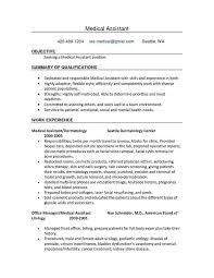 Administrative Assistant Resume Summary Inspirational Sample Medical Elegant Resumes