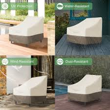 100 Patio Stack Chair Covers PHI VILLA Able S Cover Water Resistant Outdoor