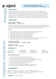 Project Manager Resume Summary Sample It Examples Program Good Samples 2017
