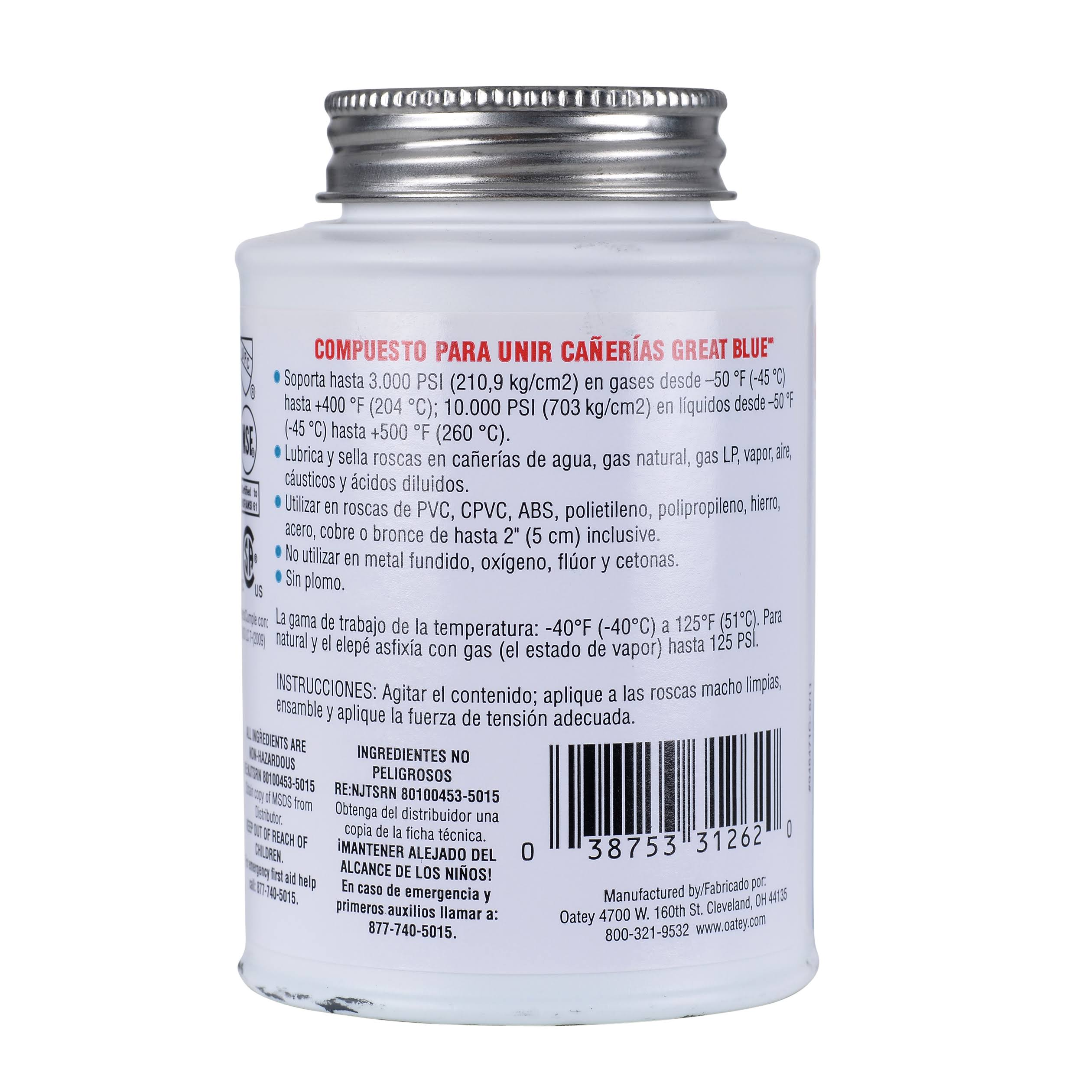 Oatey 31261 4 fl. oz. Great Blue Pipe Joint Compound