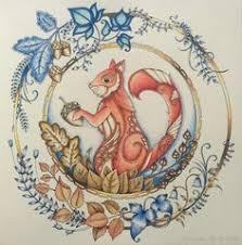 SQUIRREL Enchanted Forest Johanna Basford