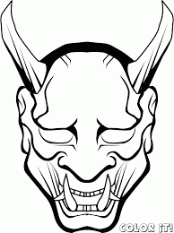 Scary Halloween Coloring Pictures To Print by Halloween Scary Masks Coloring Pages Coloring Home