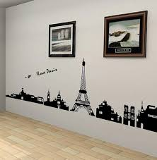 Free Shipping Black I Love Pairs Eiffel Tower Removable 3D Wall Mural Sticker Art