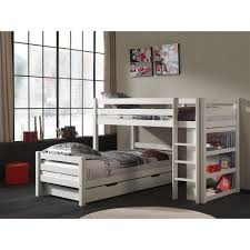 Canwood Whistler Junior Loft Bed White by Lit Superposé Claire Bas Blanc