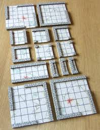 trim the wall strips to length for each tile glue them in the