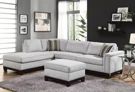 room and board sectional sofa large modern gray microfiber couch