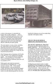 100 Correct Truck And Trailer IMPROVED CRASHWORTHY DESIGNS FOR TRUCK UNDERRIDE GUARDS PDF