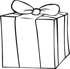 birthday presents clipart black and white 1772