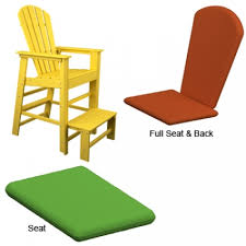 Polywood Adirondack Chair Cushions by Polywood South Beach Lifeguard Chair Cushions