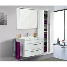 details zu badezimmer set waschtisch mit unterschrank spiegelschrank hochschrank hochglanz